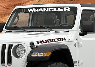 Jeep Wrangler JL/JLU Wrangler Windshield Banner Vinyl Decal