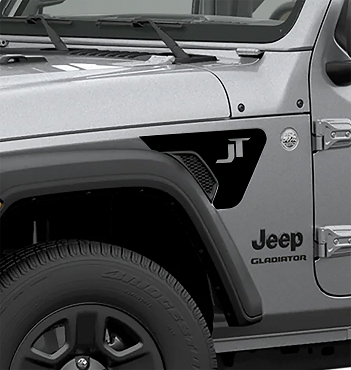 JT Letters 2pc Fender Vent Decals for 18+ Gladiator JT