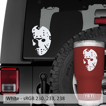 Friday the 13th Jason Vorhees Hockey Mask Vinyl Decal