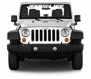 Jeep Life Windshield Banner Vinyl Decal