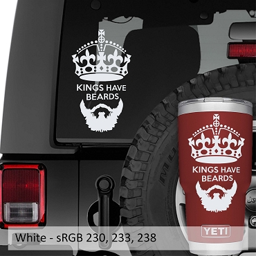 Kings Have Beards Vinyl Decal