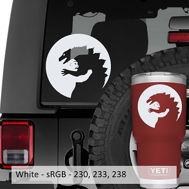 Godzilla vs King Kong Yin Yang Symbol Vinyl Decal