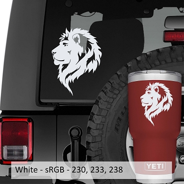 Leo The Lion Zodiac Head Profile Vinyl Decal