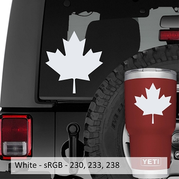 Canadian Maple Leaf Vinyl Decal