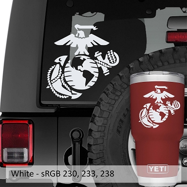 Marine Corps Eagle Globe Anchor EGA Vinyl Decal