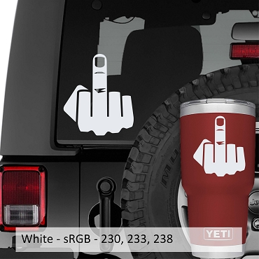 Middle Finger Vinyl Decal