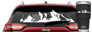 Mountain Range Vinyl Graphic Decal for Jeep Wrangler