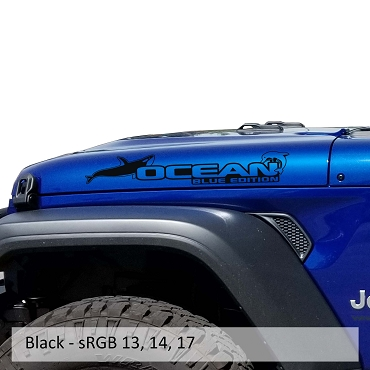 Ocean Blue Edition Hood Decal Set