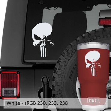 Punisher New Skull Vinyl Decal