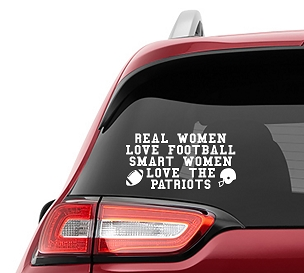 Real Women Love Football Smart Women Love the Patriots Vinyl Decal