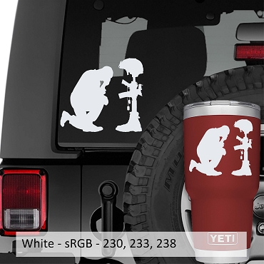 Remember Fallen Hero Vinyl Decal