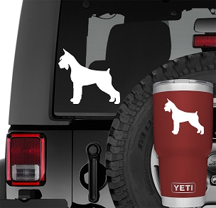 Giant Schnauzer Vinyl Decal