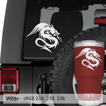 Kukulkan Serpent Dragon Vinyl Decal