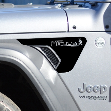 JL/JT Fender Vent Silver Bullet Edition Blackout Decal Pair