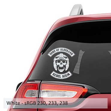 Sons of Alderaan Rebel Scum Vinyl Decal
