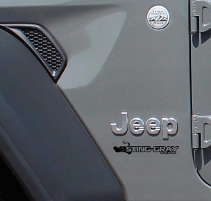 Fender Decals For Wrangler/Gladiator - JL/JT Sting Gray Edition Decal (Pair)