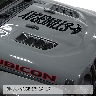 Sting-Gray Large Blackout Hood Decal