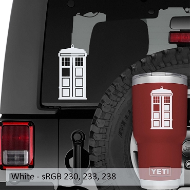 Tardis Police Call Box Vinyl Decal