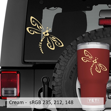 Tribal Dragonfly Vinyl Decal