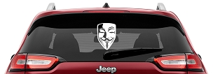 Guy Fawkes Mask Vinyl Decal | Anonymous Mask Laptop Decal