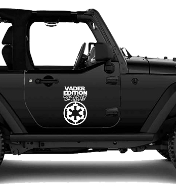Vader Edition Wrangler Unlimited Vinyl Decal
