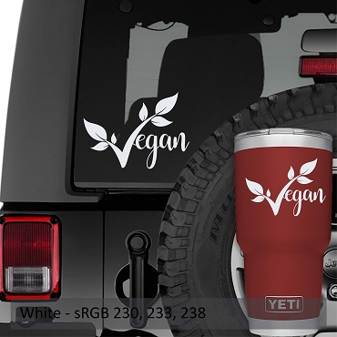 Vegan Text Vinyl Decal