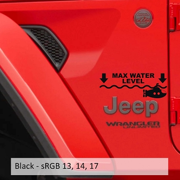 Max Maximum Water Level Submarine Vinyl Decal Set (Pair)