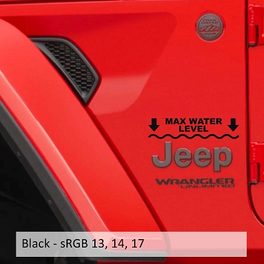 Max Maximum Water Level Vinyl Decal Set (Pair)