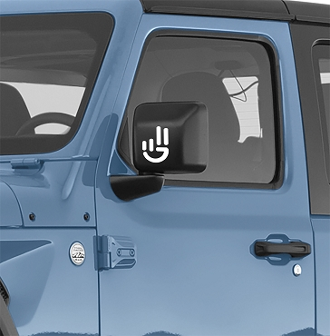 Universal Jeep Wave Logo Vinyl Decal