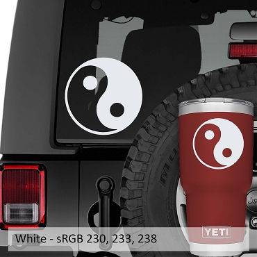Yin Yang Chinese Symbol Vinyl Decal