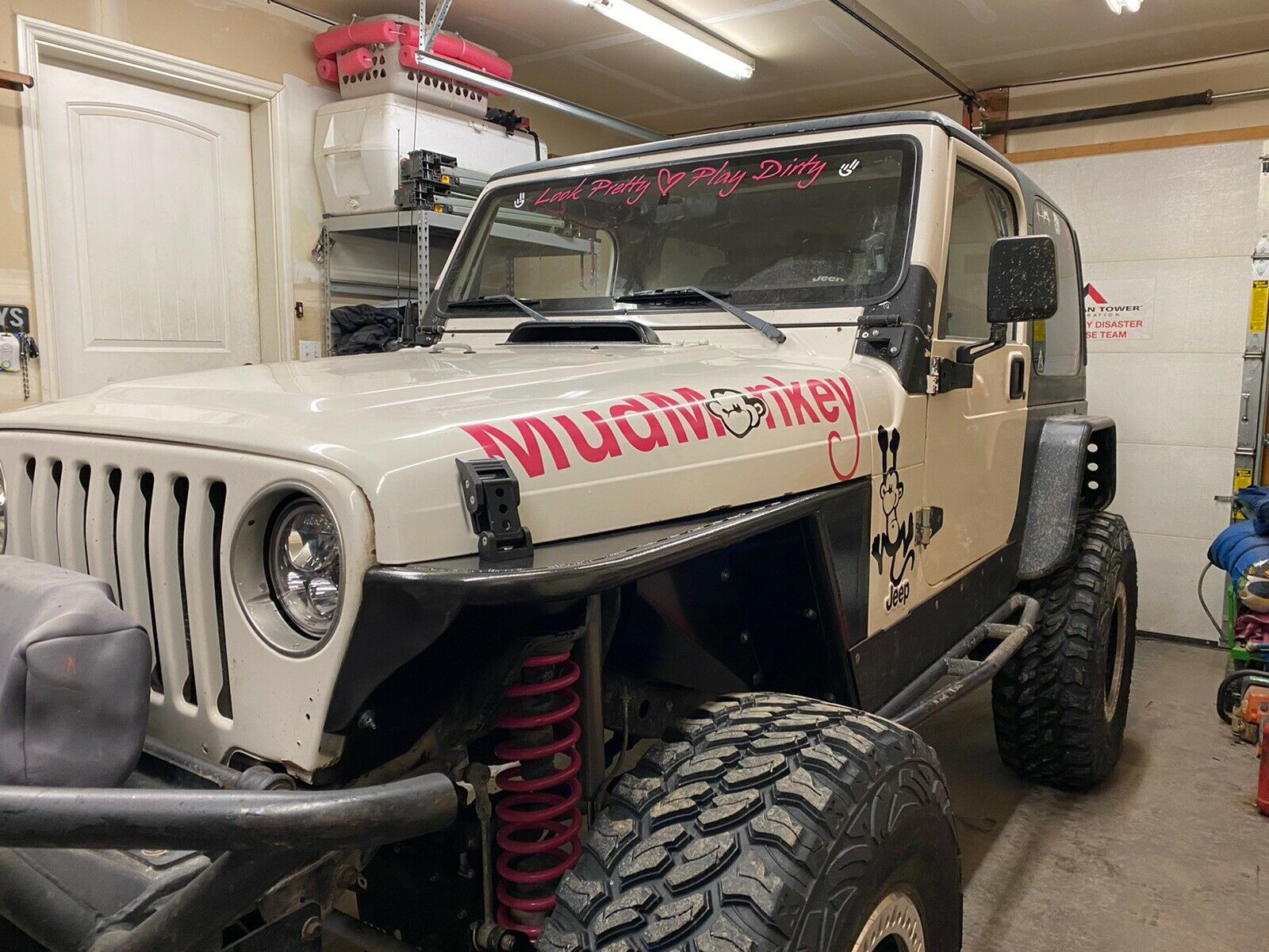Look Pretty Play Dirty Windshield Decal | Jeep Window Decals