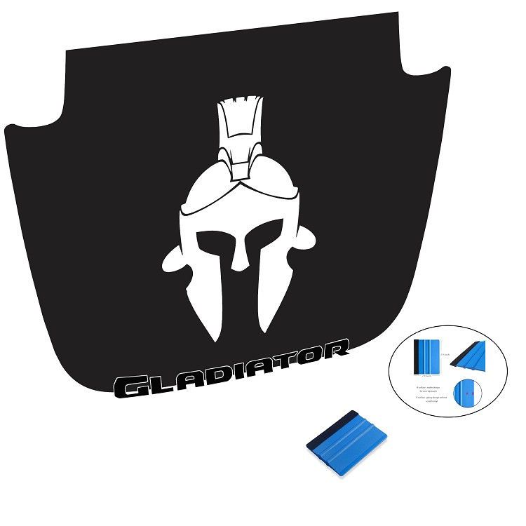 Gladiator Helmet Black Out Hood Vinyl Decal for Jeep JT