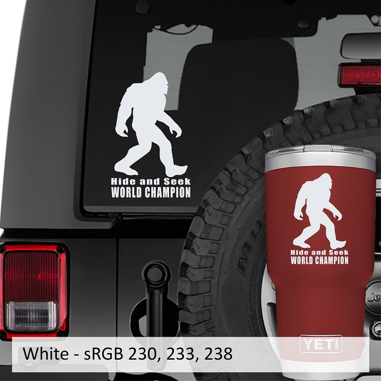 Bigfoot Hide and Seek World Champion Vinyl Decal