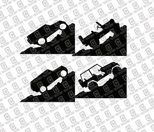 Jeep Windshield Corner Rock Climber Vinyl Decal