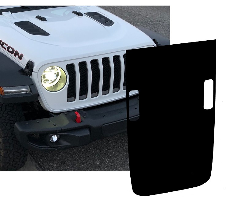 Jeep Wrangler JL/JLU/JT Rubicon Style Hood Blackout Decal