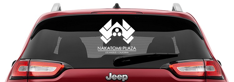Die Hard Nakatomi Plaza Vinyl Decal